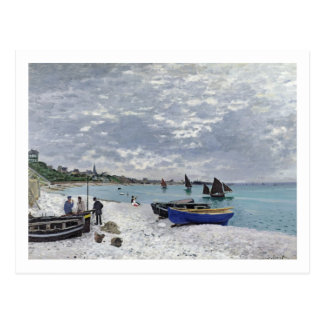 Claude Monet   The Beach at Sainte-Adresse Postcard