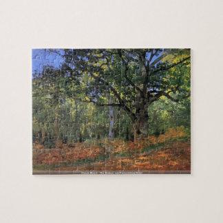 Claude Monet - The Bodmer oak Fontainbleau forest Jigsaw Puzzle