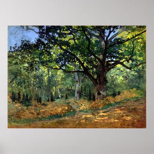 Claude Monet The Bodmer Oak, Fontainebleau Forest Poster