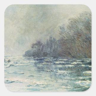 Claude Monet | The Break up at Vetheuil, c.1883 Square Sticker