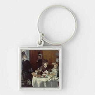 Claude Monet   The Breakfast Key Ring