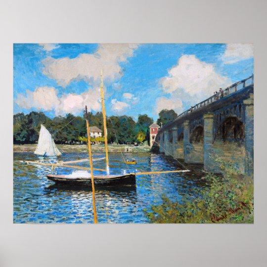 Claude Monet: The Bridge at Argenteuil Poster