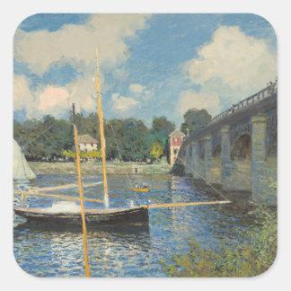 Claude Monet | The Bridge at Argenteuil Square Sticker