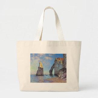Claude Monet // The Cliffs at Etretat Canvas Bags