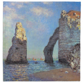 Claude Monet // The Cliffs at Etretat Cloth Napkin