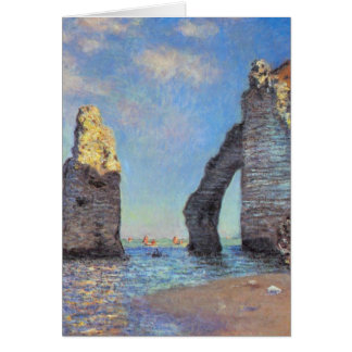 Claude Monet The Cliffs at Etretat Greeting Card