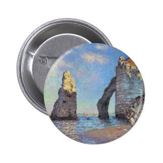 Claude Monet The Cliffs at Etretat Pinback Button