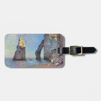 Claude Monet The Cliffs at Etretat Travel Bag Tag