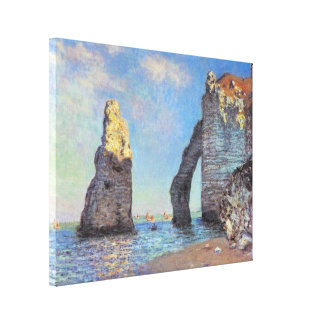 Claude Monet - The Cliffs Gallery Wrapped Canvas