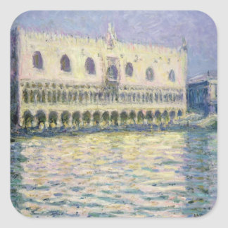 Claude Monet   The Ducal Palace, Venice, 1908 Square Sticker
