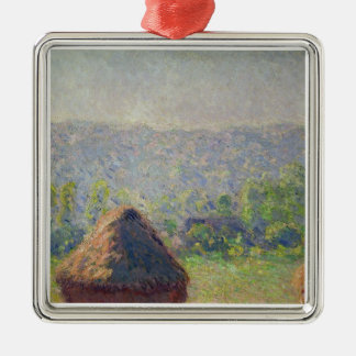 Claude Monet | The End of the Summer, at Givern Silver-Colored Square Decoration