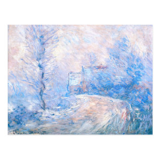Claude Monet: The Entrance to Giverny under Snow Postcard