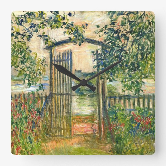 Claude Monet: The Garden Gate at Vetheuil Square