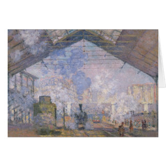 Claude Monet   The Gare St. Lazare, 1877 Card