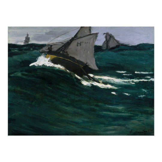 Claude Monet The Green Wave Poster