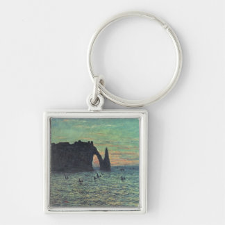 Claude Monet | The Hollow Needle at Etretat, 1883 Silver-Colored Square Key Ring