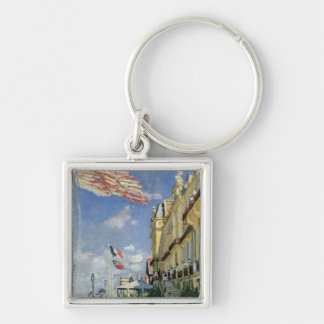 Claude Monet | The Hotel des Roches Noires Silver-Colored Square Key Ring