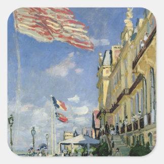 Claude Monet   The Hotel des Roches Noires Square Sticker