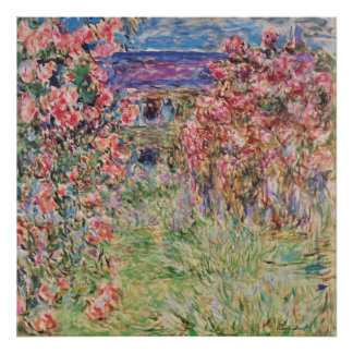 Claude Monet The House Among the Roses GalleryHD Poster