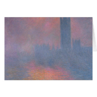 Claude Monet | The Houses of Parliament, London Card
