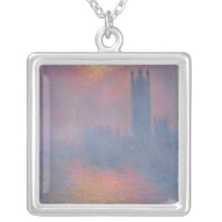 Claude Monet | The Houses of Parliament, London Silver Plated Necklace