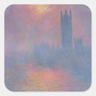 Claude Monet | The Houses of Parliament, London Square Sticker