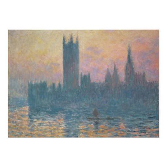 Claude Monet | The Houses of Parliament, Sunset Poster