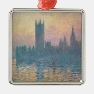 Claude Monet | The Houses of Parliament, Sunset Silver-Colored Square Decoration
