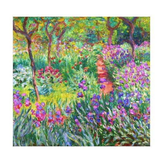 Claude Monet: The Iris Garden at Giverny Canvas