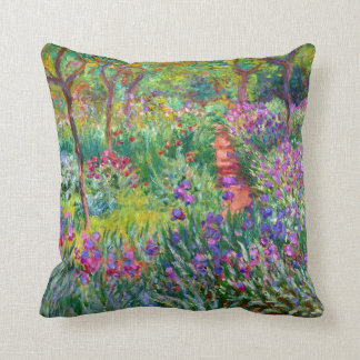 Claude Monet: The Iris Garden at Giverny Cushion