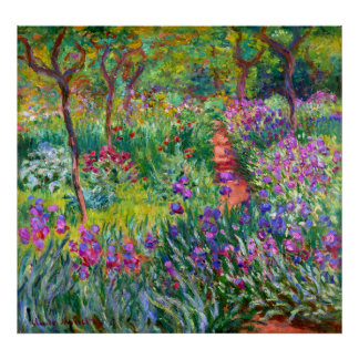 Claude Monet: The Iris Garden at Giverny Poster