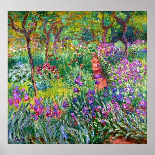 Claude Monet: The Iris Garden at Giverny Poster