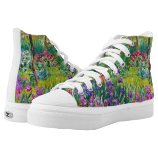 Claude Monet: The Iris Garden at Giverny Printed Shoes