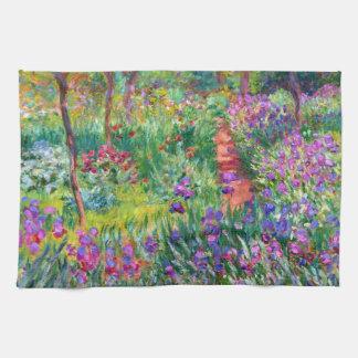 Claude Monet: The Iris Garden at Giverny Tea Towel