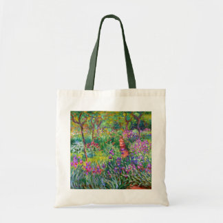 Claude Monet: The Iris Garden at Giverny Budget Tote Bag