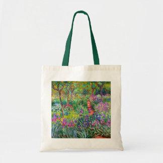 Claude Monet: The Iris Garden at Giverny Tote Bag