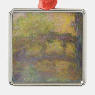 Claude Monet | The Japanese Bridge, 1918-24 Silver-Colored Square Decoration