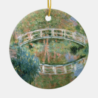 Claude Monet   The Japanese Bridge, Giverny Christmas Ornament