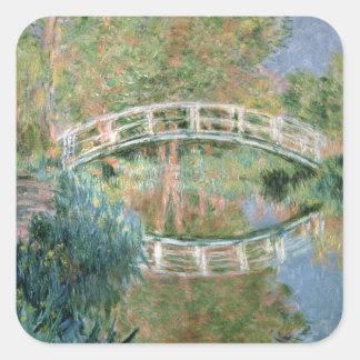 Claude Monet | The Japanese Bridge, Giverny Square Sticker