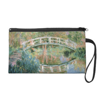 Claude Monet | The Japanese Bridge, Giverny Wristlet Clutches