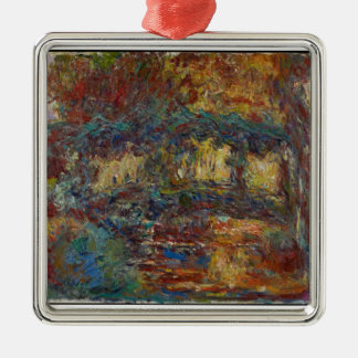 Claude Monet | The Japanese Bridge Silver-Colored Square Decoration