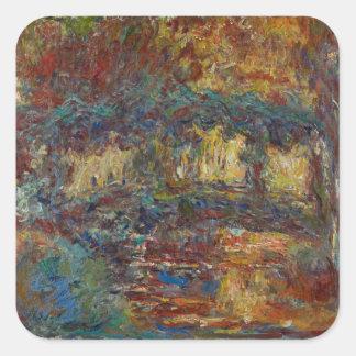 Claude Monet | The Japanese Bridge Square Sticker