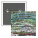 Claude Monet The Japanese Footbridge 15 Cm Square Badge