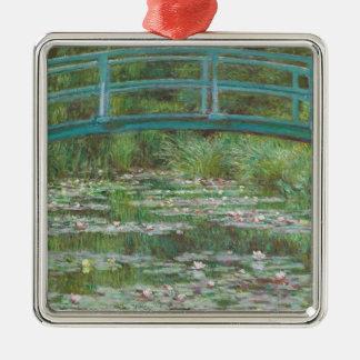 Claude Monet | The Japanese Footbridge, 1899 Silver-Colored Square Decoration