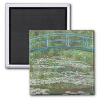 Claude Monet | The Japanese Footbridge, 1899 Square Magnet
