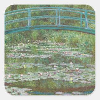 Claude Monet | The Japanese Footbridge, 1899 Square Sticker
