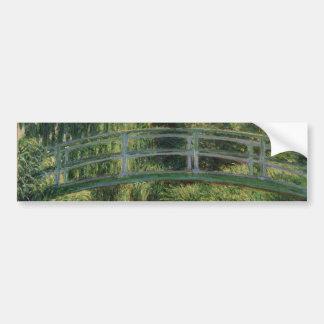 Claude Monet - The Japanese Footbridge Car Bumper Sticker