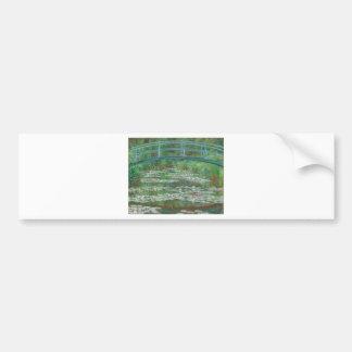 Claude Monet The Japanese Footbridge Car Bumper Sticker