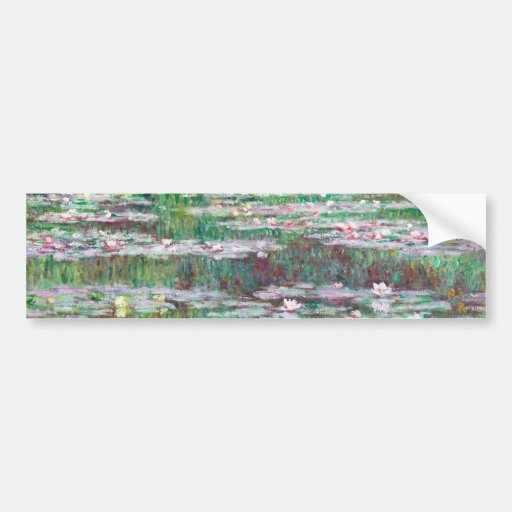 Claude Monet The Japanese Footbridge Bumper Sticker