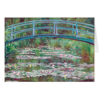 Claude Monet The Japanese Footbridge Greeting Card
